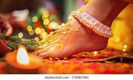 Haldi celebration in indian wedding