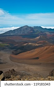 At Haleakala crater in Haleakala National Park, Hawaii
