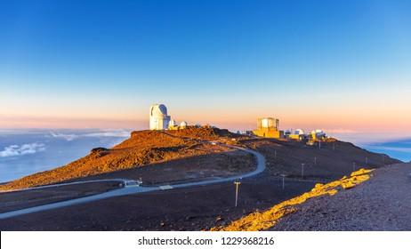 Haleakala Observatory Maui Hawaii Sunrise