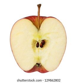 Half apple isolated on white background