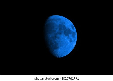 Half blue Moon background.