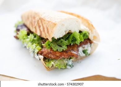Half bread chicken sandwich