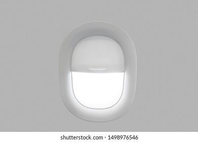half closed window of the plane