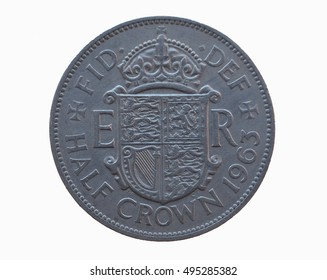 Half crown - 2 shillings and 6 pence coin (GBP) released in 1963