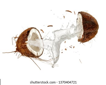 Half cut coconut splash