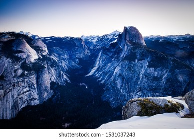 Half Dome at Dawn from Glacier Point