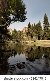 Half Dome with Stream, Yosemite National Park