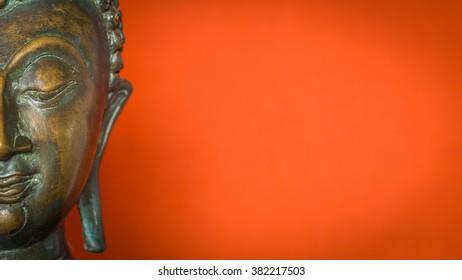 half face buddha figure 16:9 background wallpaper