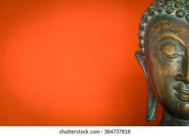 half face buddha statue