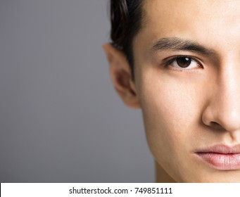 half face of Handsome young men