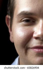 Half Face Portrait.