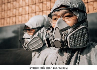 Half Facepiece Disposable Respirator Assembly, use in a variety of workplace applications, including petrochemical,chemical manufacturing. Professional mask during Covid-19 pandemic worldwide outbreak