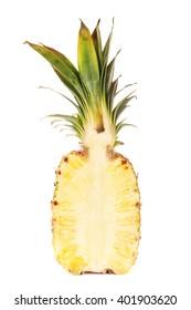 Half Of Fresh Juicy Pineapple