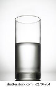 Half full, half empty glass of water