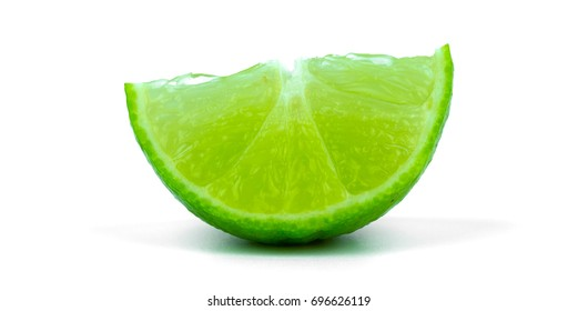 Half lemon on a white background,Medicinal plants for cooking,The drink is sour,maintain one's health.