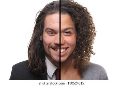Half man half woman