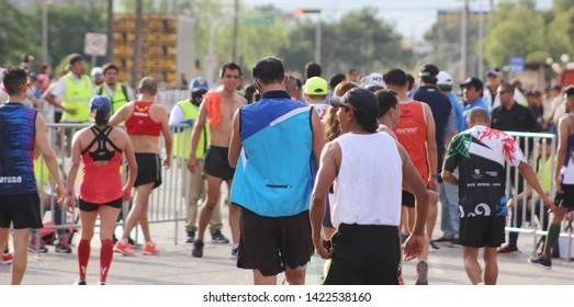 "Half marathon ""21K Coahuila"" in Saltillo, Coahuila, Mexico. 06-09-2019"