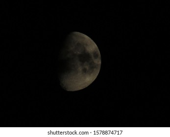 Half Moon Background The Moon is an astronomical body that orbits planet Earth, being Earth's only permanent natural