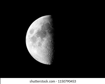 Half moon background / Half Moon refers to the two lunar phases commonly known as first quarter and last quarter