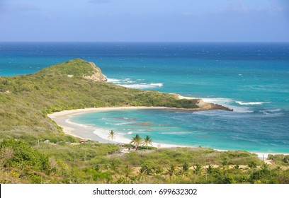 Half Moon Bay Atlantic Ocean coast - Caribbean tropical island - Saint John's - Antigua and Barbuda