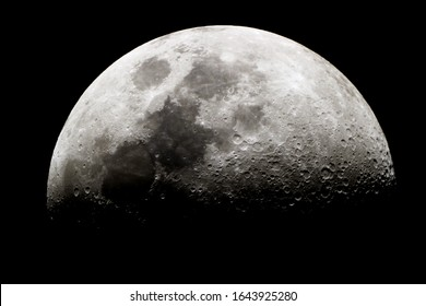 Half moon texture/ The Moon is an astronomical body that orbits Earth as its only natural satellite.