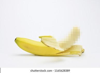 Half naked banana pixels 18+ safe sex symbol