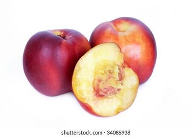 Half of nectarine