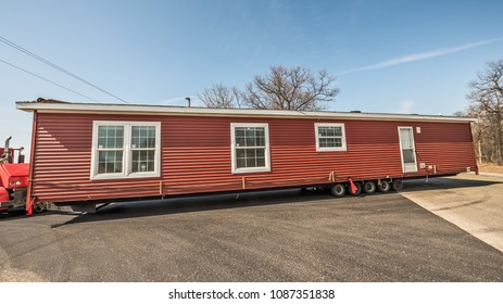 Half of new manufactured home arriving at it's destination