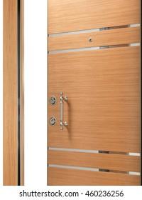 half open quality wooden steel door