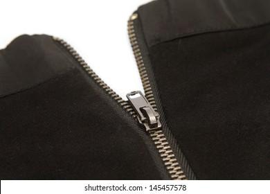 half opened zipper