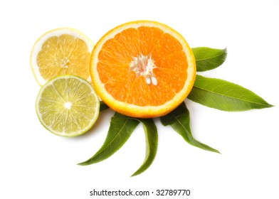 Half Orange, Sweet Lime and Lemon