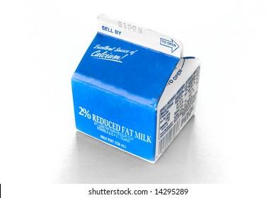 Half Pint Milk Carton on a table