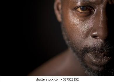 Half Portrait Of Black Man