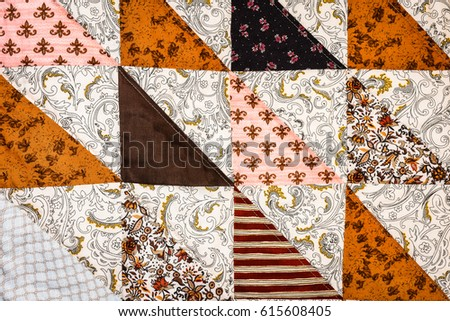 Half Square Triangle Quilt Pattern Stock Photo Edit Now 615608405
