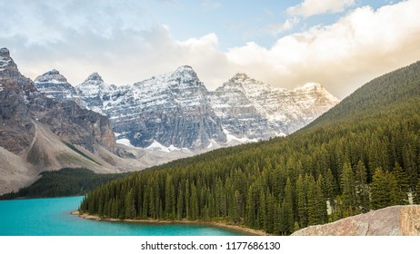 Half summer half winter - Moraine Lake at Banff National Park