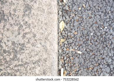 Half and Half textures - kerb and tarmac split