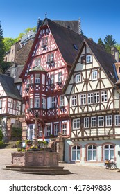 Half timbered houses in Miltenberg, Frankonia, Germany