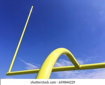 Half of Yellow Football Goal Post