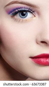 half-face portrait of beautiful girl