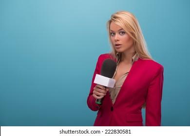 Tv Presenter Images, Stock Photos & Vectors | Shutterstock