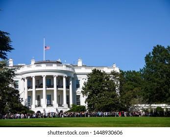 Half-mast at White House, Washington D.C.