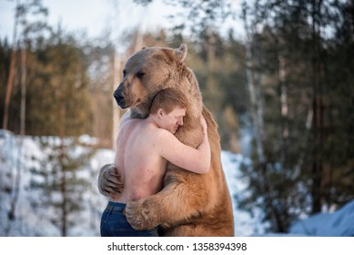 Image result for pics of man with bear