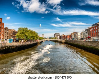 Halfpenny bridge in Dublin Ireland