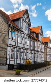 Half-timbered House in the Old town of Gorlar, Lower Saxony, Germany. Old town of Goslar is a UNESCO World Heritage