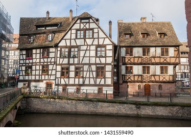 Half-timbered houses in La Petite France neighborhood in Strasbourg, France