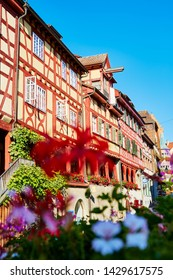 Half-timbered houses in Meersburg on Lake Constance