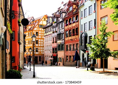 Half-timbered houses of the Old Town, Nuremberg, Germany