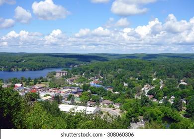 HALIBURTON, CANADA - AUGUST 3, 2015: A view of the town of Haliburton, Canada.