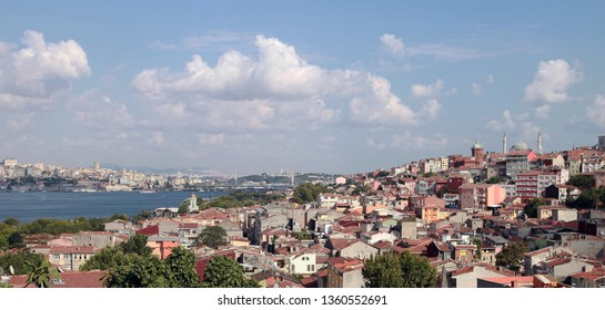 Halic (Golden Horne) from Balat District in Istanbul, Turkey.