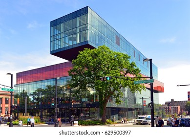 HALIFAX, CANADA - AUG 5, 2015: The award winning Halifax Central Library which opened to the public with great fanfare on December 13, 2014 on Spring Garden Road.